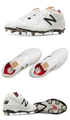 f3a23db64211 Mens 159059: New Balance L3000v3 Metal Baseball Cleats - White - L3000sw3  BUY IT NOW
