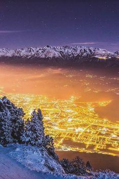 Winter Night - Grenoble, France