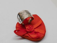 """Besteck Ring mit  Initialen """"RJ"""" 18,8 mm SR121 von Atelier Regina auf DaWanda.com"""