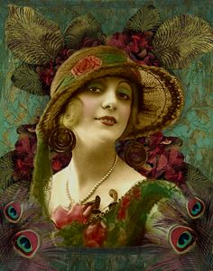 Art Nouveau Peacock Woman
