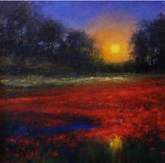 Red lagoon by Woodland, Washington based Jim Gola #landscape #art #artwit