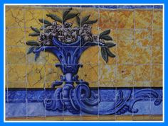 nice painted detail on tile