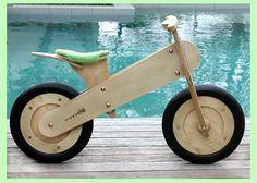 Wooden KIWI bike. Cute.