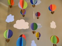 3D Paper Hot Air Balloons/Baby Shower by anyoccasionbanners