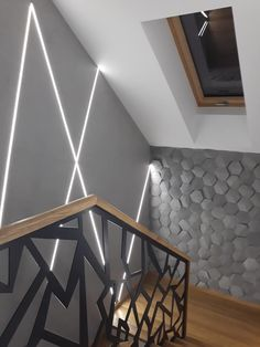 Home Stairs Design, Home Design Decor, Home Office Design, Home Interior Design, Home Decor, Modern House Floor Plans, Modern Minimalist House, Hallway Designs, Loft House