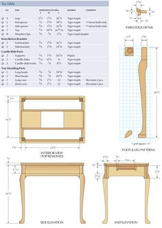 patterns for cabriole legs - Google Search