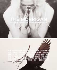 "THE MORRIGAN is a goddess of battle, strife, and fertility. Her name translates as either ""Great Queen"" or ""Phantom Queen,"" and both epithets are entirely appropriate for her."