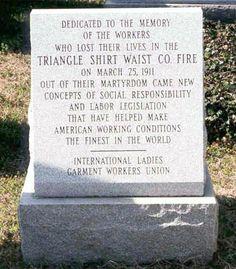 Triangle Shirtwaist Factory Memorial, Mount Zion Cemetery, New York (International Ladies' Garment Workers' Union)