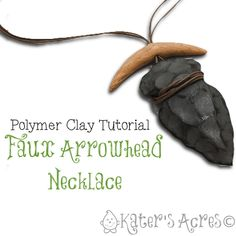 Faux Arrowhead Necklace Tutorial by KatersAcres