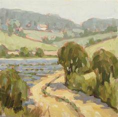 The Lavender Field - Original Fine Art for Sale - © Stuart Roper