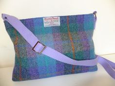 Harris Tweed Zip Shoulder Bag by cairngormbags on Etsy, $38.00