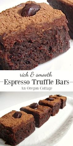 Rich and smooth espresso truffle bars- all the taste of a truffle without the shaping!