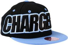 San Diego Chargers NFL Mitchell & Ness, Throwback 2-Tone Large Wordmark Fitted Hat, TL47, Black by Mitchell & Ness. $21.95. 100% wool. Officially Licensed by NFL. Large Emriodered Center Logo. Mitchell And Ness Logo Embroidered on back. Flat Brim. It doesn't get any cooler than the Mitchell & Ness® large wordmark snapback. With a bold team colorway and supersized NFL® team wordmarks, this 100% wool hat isn't subtle. The accent-color details and embroidered team name and l...