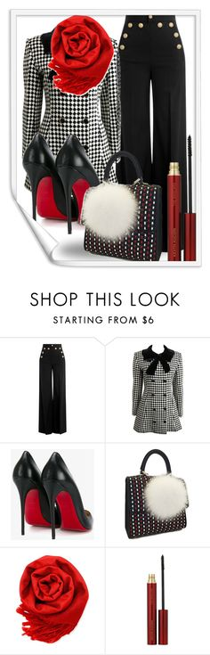 """Untitled #1191"" by theserialnester ❤ liked on Polyvore featuring RED Valentino, Christian Louboutin, Les Petits Joueurs, Gearonic and Kevyn Aucoin"
