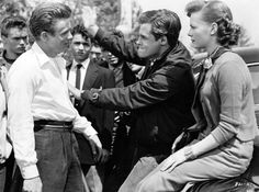 natalie wood and james dean rebel without a cause group pose