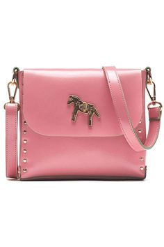Horse Studded Shoulder Bag