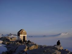 Cabin for glacial research conducted by the Juneau Icefield Research Program on the Juneau Icefield, Alaska.
