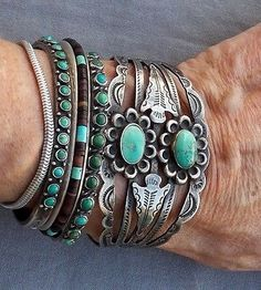 Stacked Southwestern Cuffs.