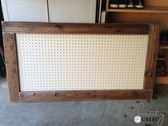 framed pegboard. I want to do this for my necklaces...from Shanty 2 Chic.