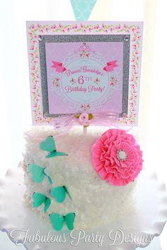 Cake  at a  Princess Party #princess #partycake