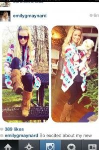 Emily Maynard tribal sweater