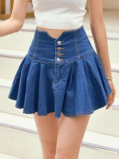 Fashion Pioneer with more than 200000 different style of clothes lower than average market price, offering Great customer service and shopping experience. Cute Skirts, Short Skirts, Short Dresses, Denim Fashion, Cute Fashion, Fashion Site, Skirt Outfits, Cute Outfits, Sexy Rock