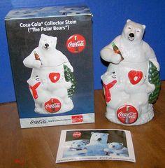 COKE COCA COLA THE POLAR BEARS COLLECTOR STEIN!