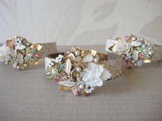 Vintage Wrist corsages.....I like this idea but using different brooches