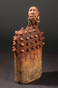 Roelna Louw / Africa 02. African Dan / Sculpture / Size: 13 H x 5.5 W x 3.5 in