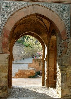 Another shot of the Puerta del Vino at the Alhambra Islamic Architecture, Architecture Details, Granada Spain, Old World, Places To Go, Shots, Photo And Video, City, Manual