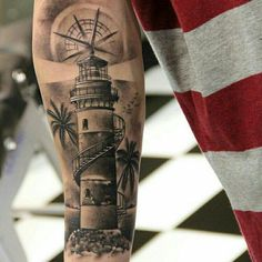 Sea Tattoo Sleeve, Ship Tattoo Sleeves, Nautical Tattoo Sleeve, Tattoo Sleeve Designs, Sleeve Tattoos, Full Arm Tattoos, Arm Tattoos For Guys, Leg Tattoos, Navy Tattoos