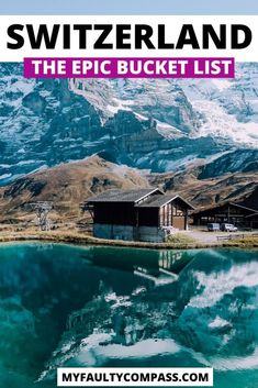 25 best places to visit in Switzerland - from beautiful lakes and stunning mountains to spectacular waterfalls and charming towns! Bucket list worth destinations in Switzerland, complete with details on how & when to visit, plus bonus destinations. Europe Destinations, Europe Travel Guide, Travel Guides, Switzerland Travel Guide, Places In Switzerland, Switzerland Itinerary, Cool Places To Visit, Places To Travel, Places To Go