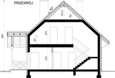 Przekrój House Plans, Floor Plans, Stairs, How To Plan, Home Decor, Stairway, Decoration Home, Room Decor, Staircases