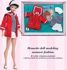Let's Play Barbie Brunette Doll and Resort Set Reproduction Fashion BarbieCollector.com Exclusive - I have this set with the redhead doll.