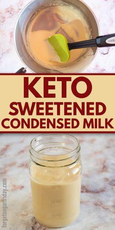 Sweet Condensed Milk, Condensed Milk Recipes, Low Carb Sweets, Low Carb Desserts, Dessert Recipes, Keto Recipes, Shrimp Recipes, Soup Recipes, Dinner Recipes
