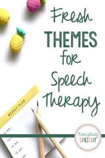 Do You Use Themes For Planning Speech Therapy Sessions Speechtherapy Slpsontpt Speechtherapy Speech Therapy Themes Speech Therapy Activities Speech Therapy