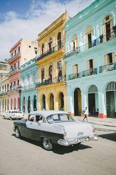 pastel buildings in cuba. / sfgirlbybay