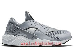 hot sale online 4c13c e0c53 Running Homme Nike Air Huarache White Wolf Grey 318429 014 Nike Air Huarache  White, Basket Nike