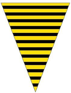 FREE Printable Bee Striped Banner Free To Use Share