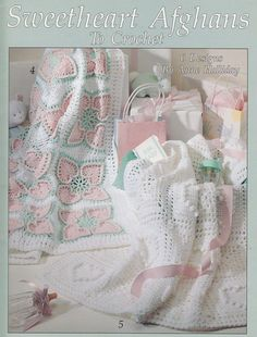 Hearts Baby Afghan Crochet Patterns