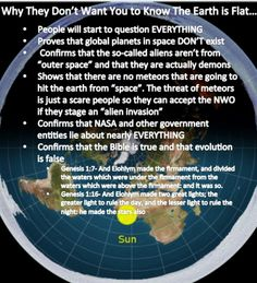 How the fuck does the shape of the earth prove that evolution is false