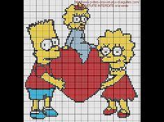 Simpsons hama perler beads pattern