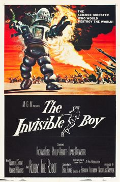 "The Invisible Boy (MGM, 1957). One Sheet (27"" X 41"")."