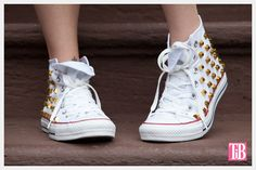 DIY Studded Converse Photo Front View