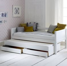 Purchase a Flexa Nordic Day Bed at Room To Grow. We offer price match availability on the Flexa Nordic Day Bed & free delivery available Daybed With Trundle, Toddler Trundle Bed, Captains Bed, Under Bed Storage, Extra Storage, Trundle Bed With Storage, Bed With Drawers, Kabine, Teenage Room Decor