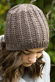 This hat is worked in the round from the bottom up. It's a free pattern!