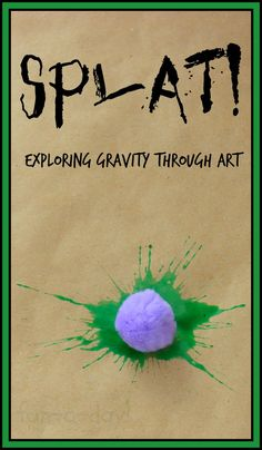 Explore gravity while painting with friends.  Great for preschool, kindergarten, homeschool . . . and I bet older kiddos would love it too!