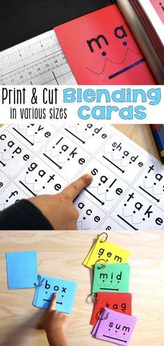 blending cards printed