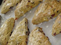 Cranberry Peach Scones w/ White Chocolate Chips- 218 calories - Lose Weight By Eating | with Audrey Johns