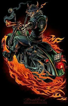 Skeleton Warrior Biker T-Shirt - Flyland Designs, Freelance Illustration and Graphic Design by Brian Allen - Harley Davidson Wallpaper, Harley Davidson Logo, Skull Pictures, Cool Pictures, David Mann Art, Grim Reaper Art, Skeleton Warrior, Celtic Warriors, Arte Obscura